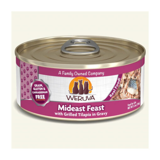 Weruva Mideast Feast with Grilled Tilapia in Gravy Grain-Free Canned Cat Food