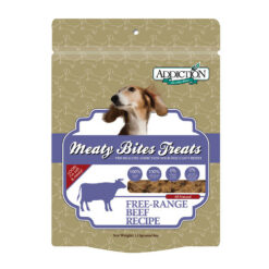 Addiction Meaty Bites Beef Dog Treats