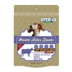 Addiction Meaty Bites Beef Dog Treats
