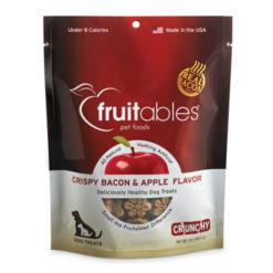 Fruitables Crispy Bacon & Apple Flavor Crunchy Dog Treats