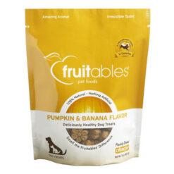 Fruitables Pumpkin & Banana Flavor Crunchy Dog Treats