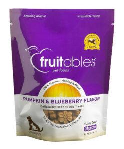 Fruitables Pumpkin & Blueberry Flavor Crunchy Dog Treats