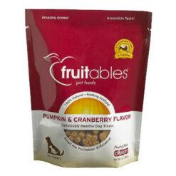 Fruitables Pumpkin & Cranberry Flavor Crunchy Dog Treats