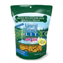 Natural Balance L.I.T. Limited Ingredient Treats Brown Rice & Lamb Meal Formula Dog Treats