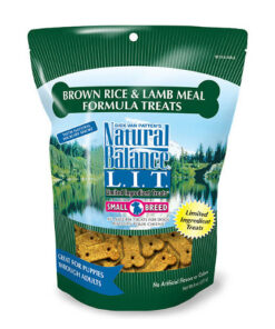 Natural Balance L.I.T. Limited Ingredient Treats Brown Rice & Lamb Meal Formula Dog Treats