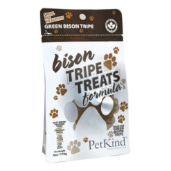 PetKind Grain-Free Green Bison Tripe Formula Dog Treats