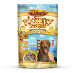 Zuke's Skinny Bakes Peanut Butter & Banana Crunch Dog Treats
