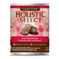 Holistic Select Beef Pate Recipe Grain-Free Canned Dog Food