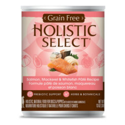 Holistic Select Salmon, Mackerel & Whitefish Pate Recipe Grain-Free Canned Dog Food