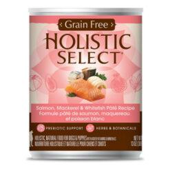 Holistic Select Salmon, Mackerel & Whitefish Pate Recipe Grain-Free Canned Dog Food