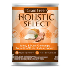 Holistic Select Turkey & Duck Pate Recipe Grain-Free Canned Dog Food