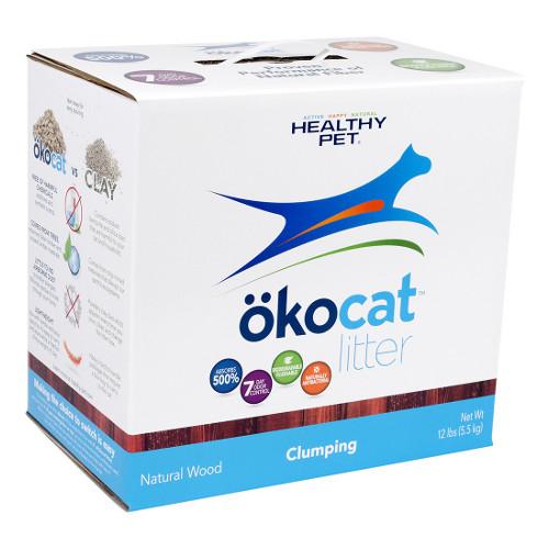 Okocat Natural Wood Clumping Cat Litter