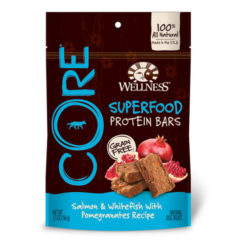 Wellness CORE Grain-Free Protein Bars Salmon & Whitefish with Pomegranates Recipe Dog Treats