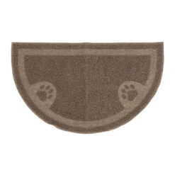 Arm & Hammer Pearl Tan Half Circle Cat Litter Mat