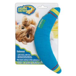Cosmic 100-Percent Catnip Filled Boomerang, Rebound Cat Toy