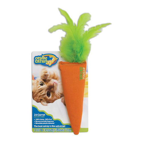 Cosmic 100-Percent Catnip Filled Carrot Cat Toy