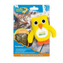Cosmic The Whoooo Refillable Catnip Cat Toy