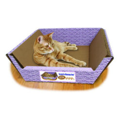 Omega Paw Ripple Board Scratch Massage Cat Bed