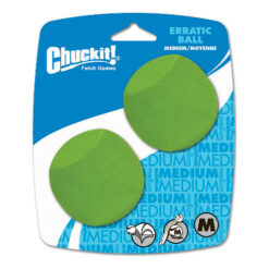 Chuckit! Erratic Ball, Medium 2-pack, 2.5 inch