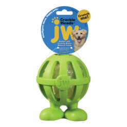 JW Pet Crackle Heads Cuz Dog Toy