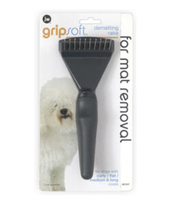 JW Pet Gripsoft Dematting Rake