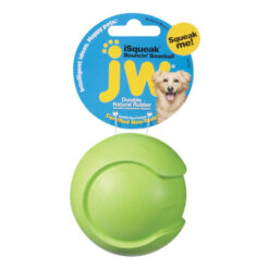 JW Pet iSqueak Bouncin' Baseball Dog Toy