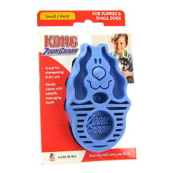 KONG Dog ZoomGroom, Puppy Boysenberry Soft Brush