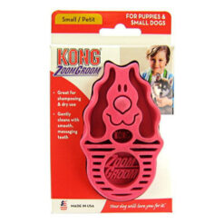 KONG Dog ZoomGroom, Puppy Raspberry Soft Brush