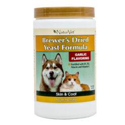 NaturVet Brewer's Dried Yeast Formula with Garlic Dog & Cat Powder Supplement
