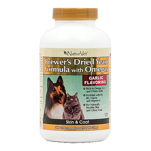 NaturVet Brewer's Yeast Formula with Omegas Dog & Cat Tablets