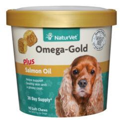 NaturVet Omega Gold Plus Salmon Oil Soft Chews for Dogs