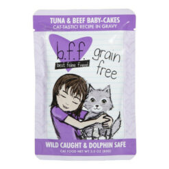 Best Feline Friend Tuna & Beef Baby Cakes Cat Food Pouches