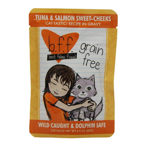 Best Feline Friend Tuna & Salmon Sweet Cheeks Cat Food Pouches