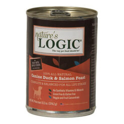 Nature's Logic Canine Duck & Salmon Feast Canned Dog Food