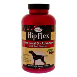 NaturVet Hip Flex Joint Level 3 Advanced Care with Tart Cherries Dog Tablets