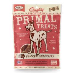 Primal Chicken Shredders Dry Roasted Dog Treats