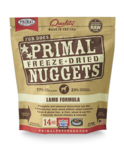 Primal Lamb Formula Nuggets Grain-Free Raw Freeze-Dried Dog Food