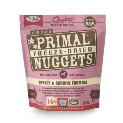Primal Turkey & Sardine Formula Nuggets Grain-Free Raw Freeze-Dried Dog Food