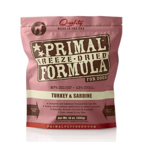 Primal Turkey & Sardine Formula Freeze-Dried Dog Food