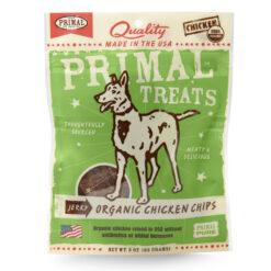 Primal Organic Chicken Chips Jerky Dog Treats