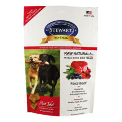 Stewart Pro-Treat Raw Naturals Real Beef with Berries & Flaxseed Freeze-Dried Dog Treats