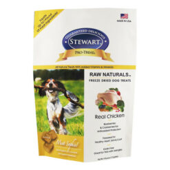 Stewart Pro-Treat Raw Naturals Real Chicken with Berries & Flaxseed Freeze-Dried Dog Treats 4oz