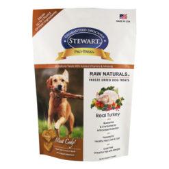 Stewart Pro-Treat Raw Naturals Real Turkey with Berries & Flaxseed Freeze-Dried Dog Treats 4oz