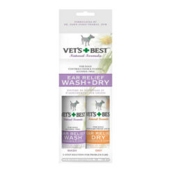 Vet's Best Ear Relief Wash + Dry Combo Pack for Dogs