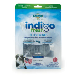 Indigo Fresh Floss Bones Chicken & Blueberry Flavor Dental Chews Dog Treats