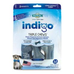 Indigo Triple Chews Chicken & Blueberry Flavor Dog Treats