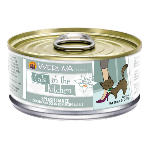 Weruva Cats in the Kitchen Splash Dance Chicken & Ocean Fish Au Jus Canned Cat Food
