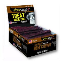 Etta Says! Crunchy Beef Chews Dog Treats