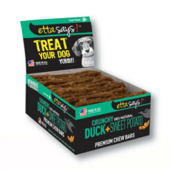 Etta Says! Crunchy Duck + Sweet Potato Chew Bars Dog Treats