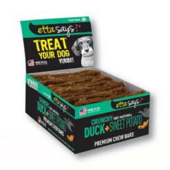 Etta Says! Crunchy Duck + Sweet Potato Chew Bars Dog Treats